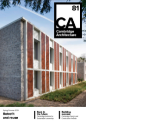 CFCI supports Cambridge Architecture magazine produced by Cambridge Association of Architects